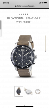 Customer picture of Elliot Brown Mens Bloxworth Black And Grey Oiled Leather Strap 929-015-L16
