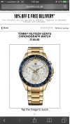Customer picture of Tommy Hilfiger Mens Luke Gold Tone Watch 1791121