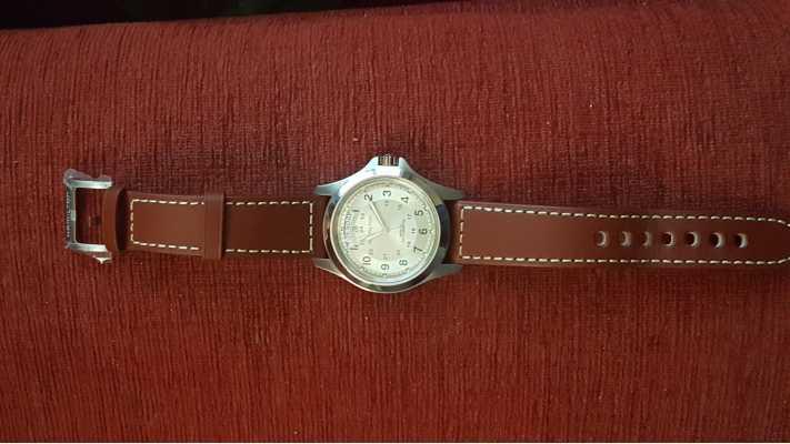 7613f043137 Customer picture of Hamilton Khaki Field Auto Brown Leather H64455523 Watch  ...