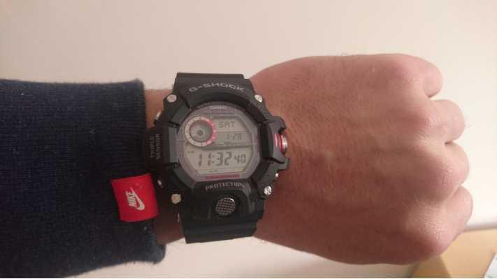 Customer picture of Casio Mens Rangeman Radio Controlled G-Shock GW-9400-1ER 943e9bcab6
