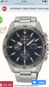 Customer picture of Seiko Men's Prospex Stainless Steel Solar Chronograph SSC703P1