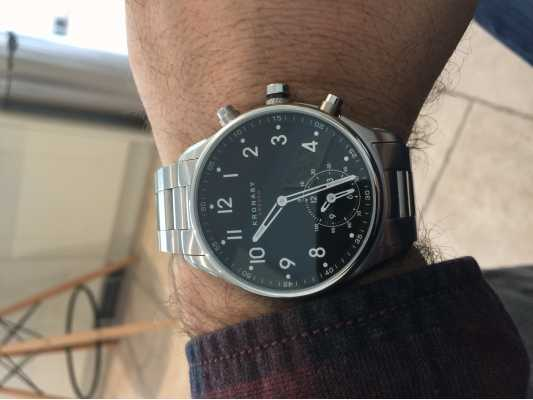d30f76cdb Customer picture of Kronaby 43mm APEX Bluetooth Stainless Steel Black Dial  Smartwatch A1000-1426