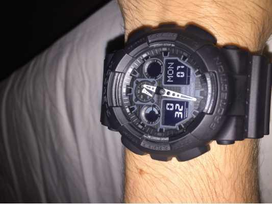 7dab5bffe18d Customer picture of Casio G-Shock Chronograph Alarm Black GA-100-1A1ER