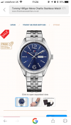 Customer picture of Tommy Hilfiger Mens Charlie Stainless Steel Blue Dial 1791061