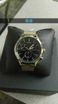 Customer picture of Hugo Boss Mens Companion Chronograph Rose Gold Tone  Mesh Bracelet 1513548 562b67924320