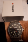 Customer picture of Wenger Attitude Black Dial Steel Bracelet Watch 01.1541.102
