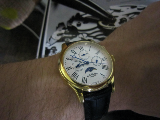 rotary moonphase watch instructions