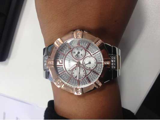 Guess Womens Two Tone Steel Bracelet Watch W0024L1 - First ...