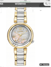 Customer picture of Citizen Eco-Drive Sunrise L Womens Diamond Two Tone EM0324-58D