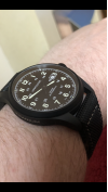 Customer picture of Hamilton Mens Khaki Field Titanium Auto Black Dial H70575733