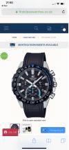 Customer picture of Casio | Edifice Solar | Black Rubber Strap |Black Chronograph Dial EFS-S550PB-1AVUEF