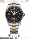 Customer picture of Victorinox Swiss Army Mens Maverick Two Tone Steel Bracelet Black Dial 241824